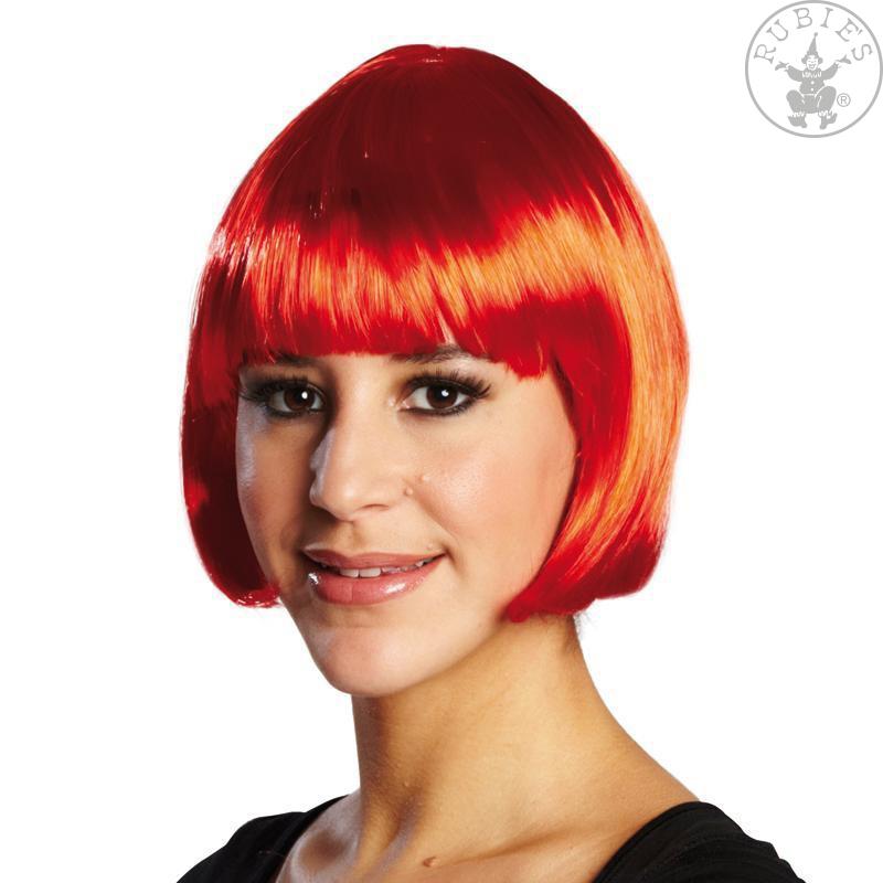 Paruky - Trixy červená - karnevalová paruka