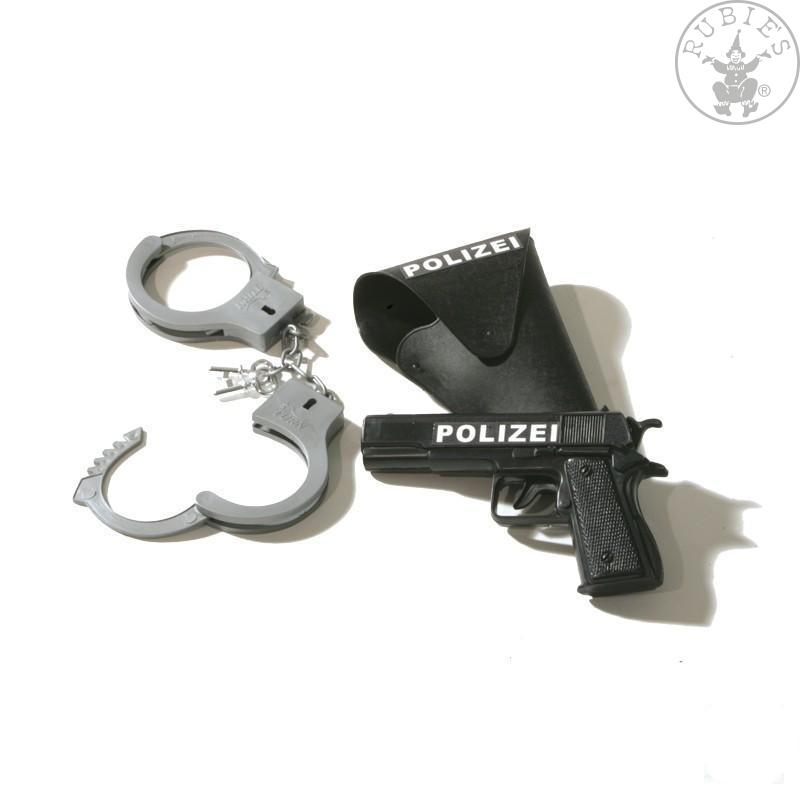 Doplňky - Dětský policejní set 3dílný pistole