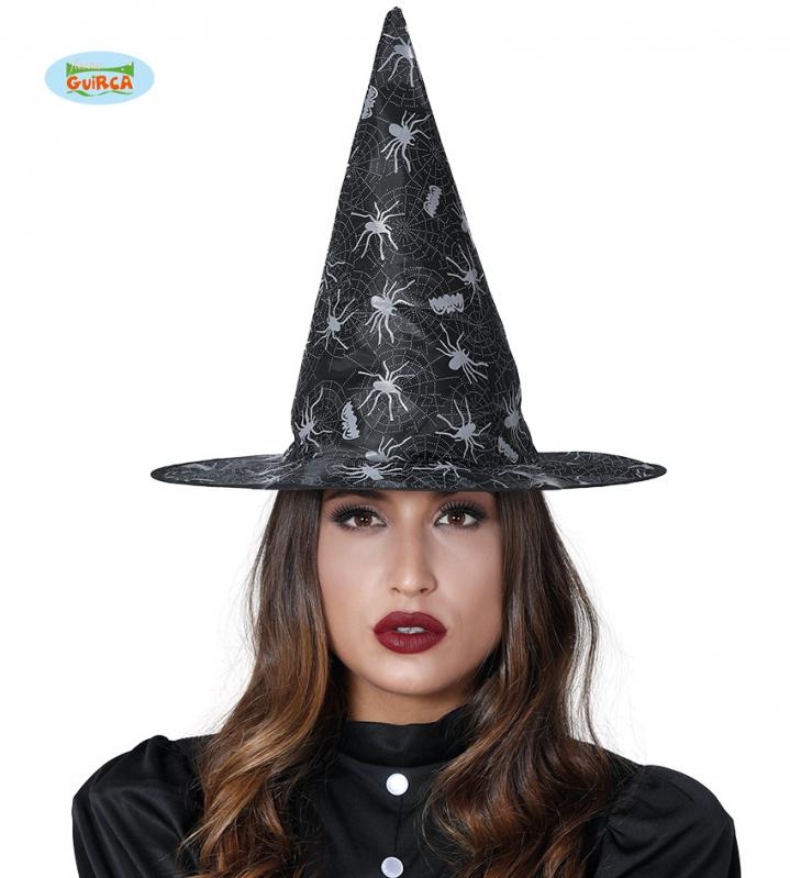 Klobouky a čepice - Čarodějnický klobouk s pavouky a sítí