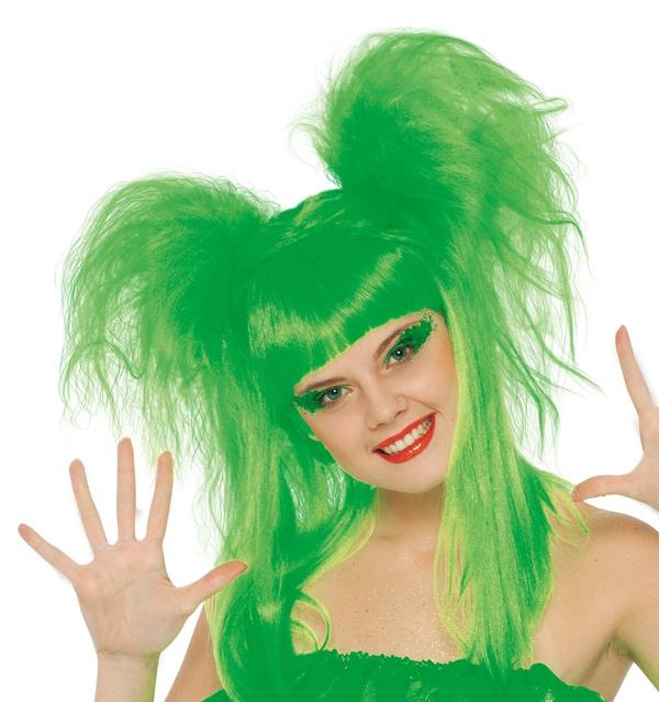 Paruky - Paruka Couettes zelená D
