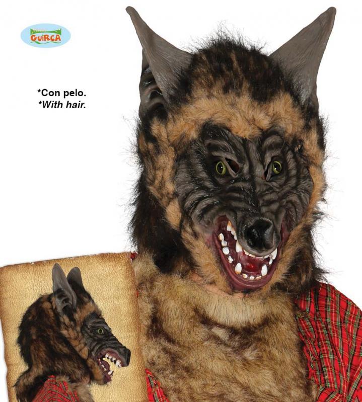 Masky - Latexová maska vlka