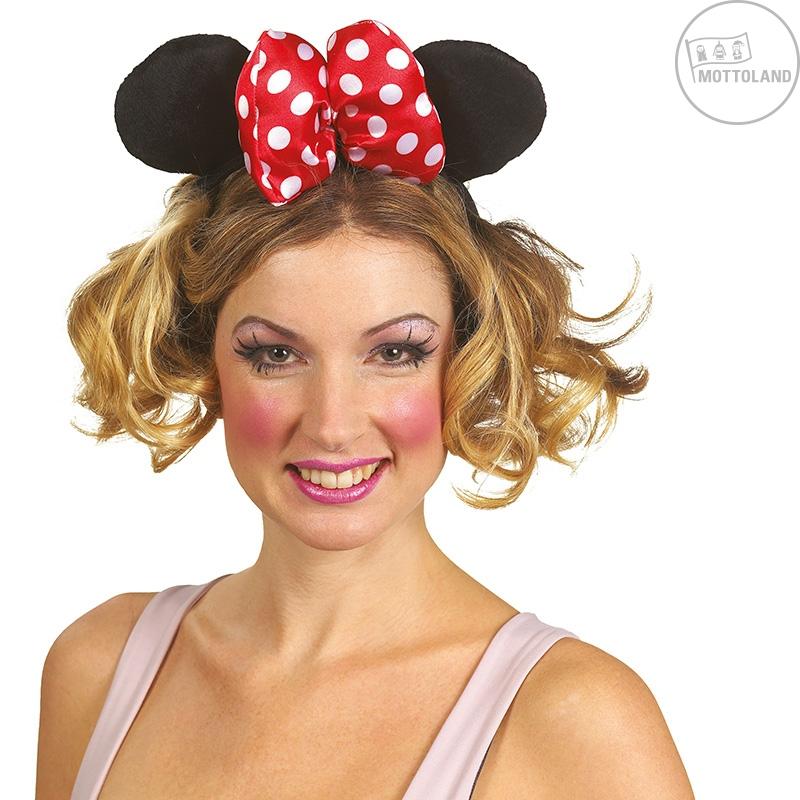 Čelenky a ozdoby hlavy - Minnie - velká čelenka s mašlí