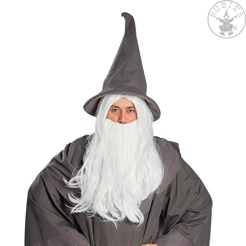 Paruky - Kouzelník - paruka s vousy