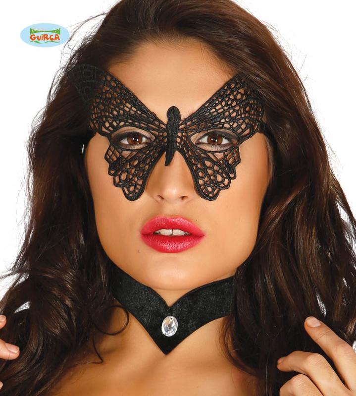 Karnevalové masky, latexové masky - Škraboška motýl