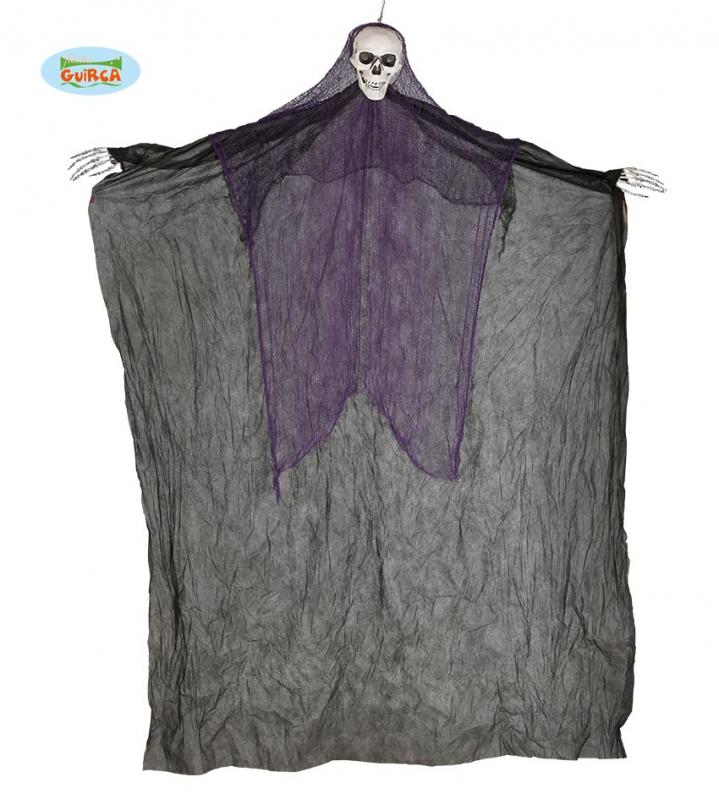 Doplňky - Závěsné strašidlo černé - skeleton