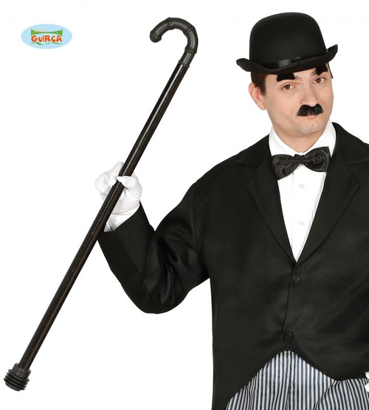 "Doplňky - Hůl Chaplin s ""píšťalkou"" na konci hůlky - 88 cm"