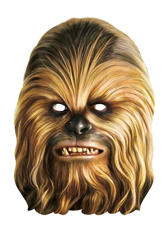 Karnevalové masky, latexové masky - Chewbacca - kartonová maska pro dospělé