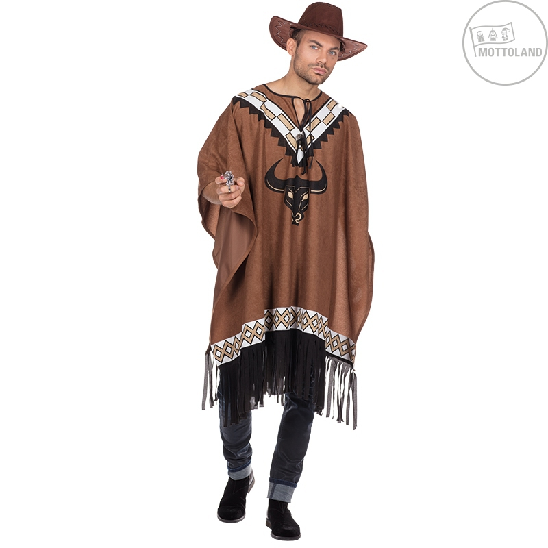 Kostýmy - Deluxe poncho s buvolem