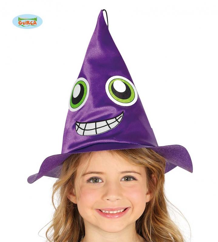Klobouky a čepice - Dětský čarodějnický klobouk fialový