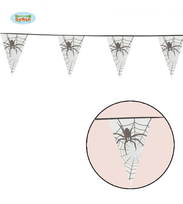 Doplňky - Girlanda s pavouky 600 cm