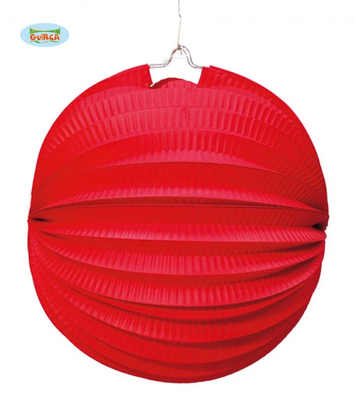 Doplňky - Lampion 26 cm červený