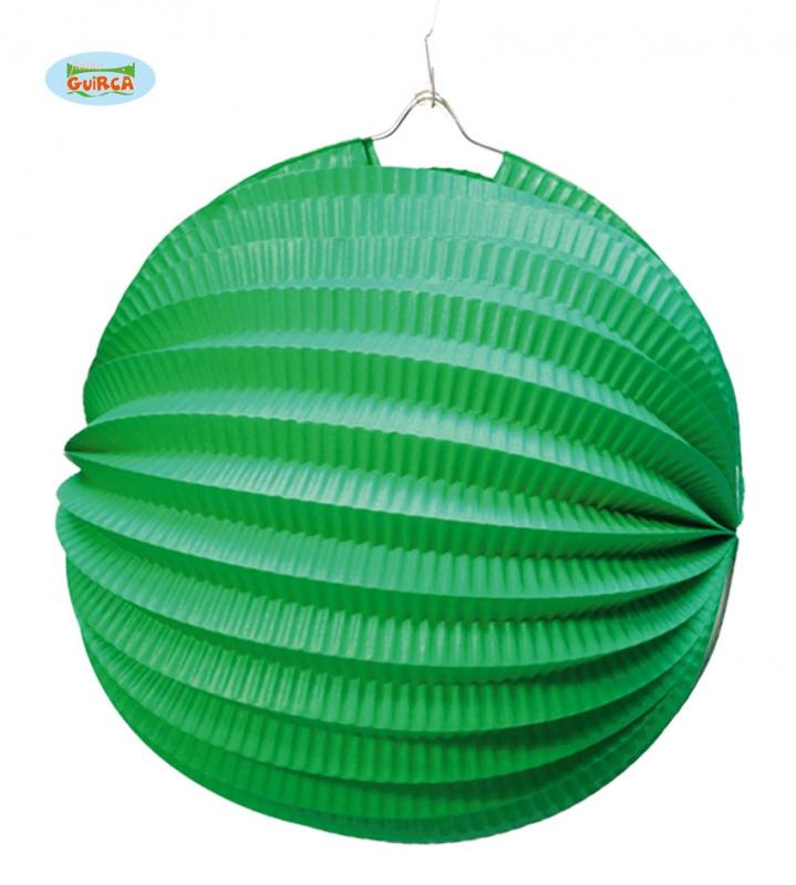 Doplňky - Lampion 26 cm zelený