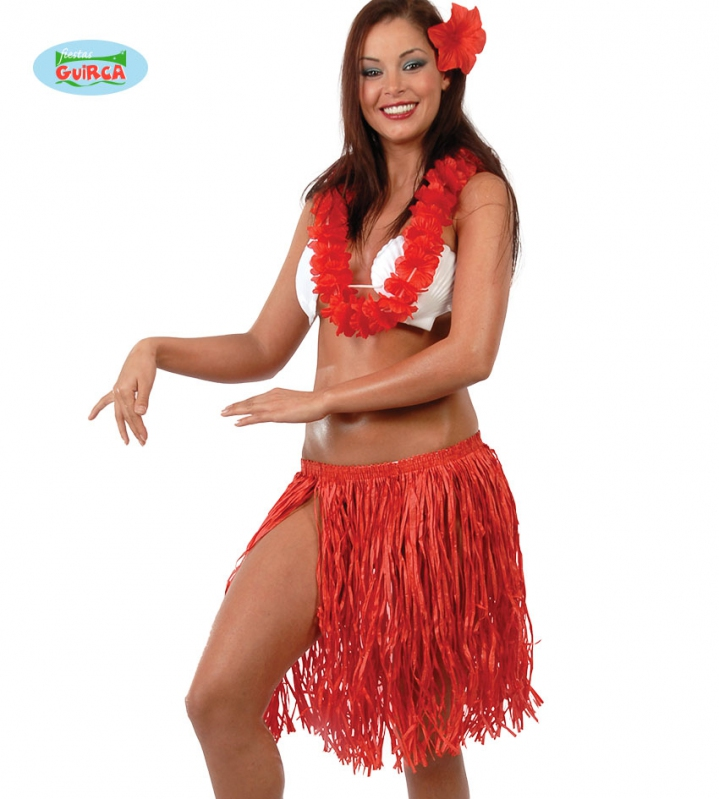 Kostýmy - Hawajský set pro dospělé červený (17658)