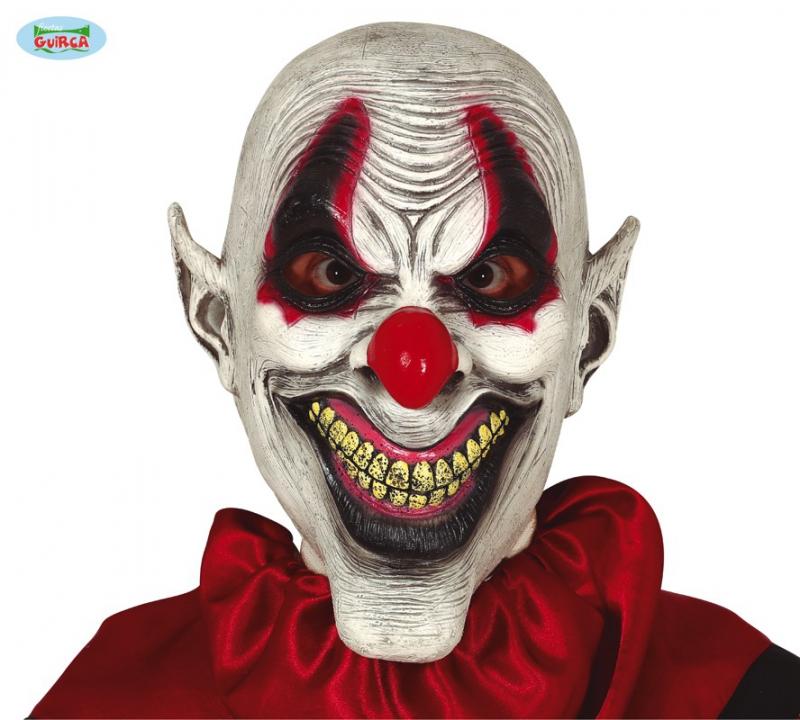 Karnevalové masky, latexové masky - Latexová maska psycho klaun