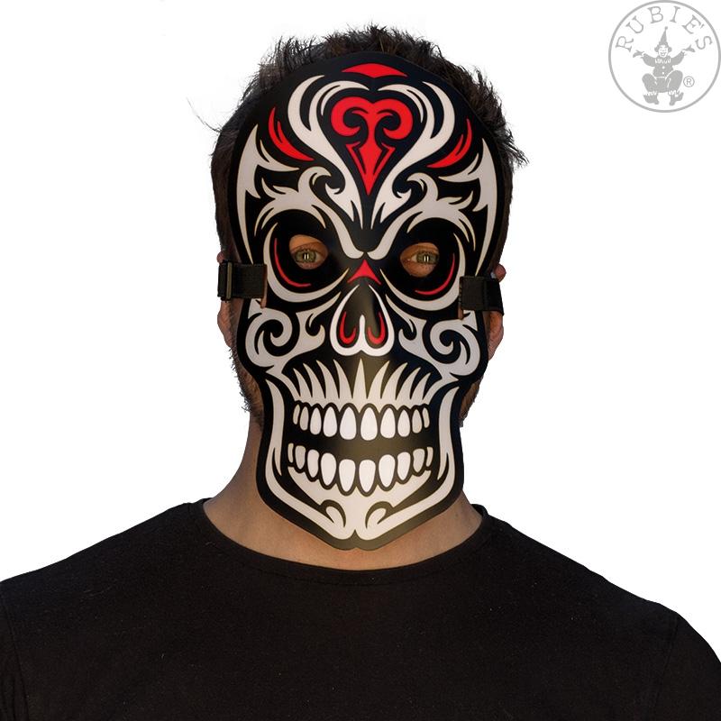 Doplňky dle zaměření - Led svítící maska Skull