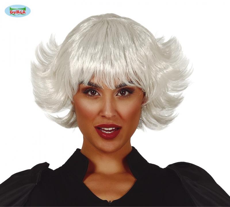 Paruky - Bílá dámská paruka Nina