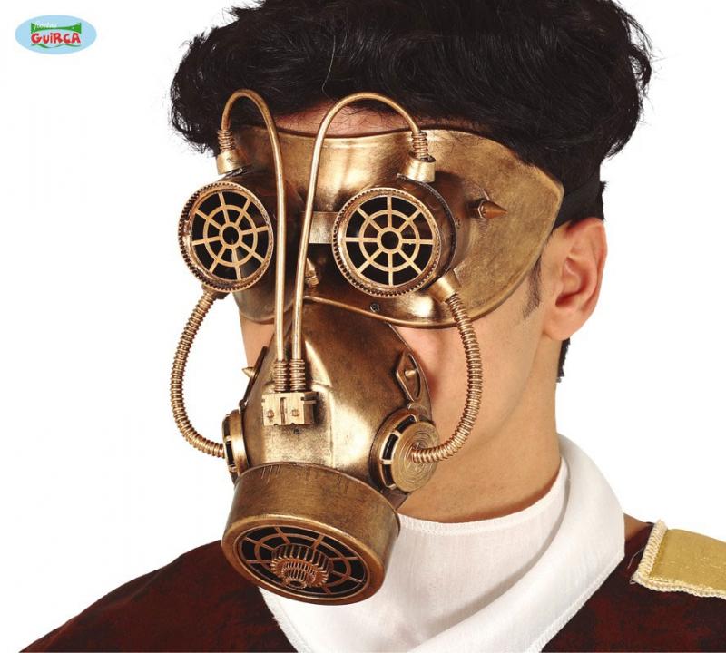 Masky - Maska - plynová maska STEAMPUNK