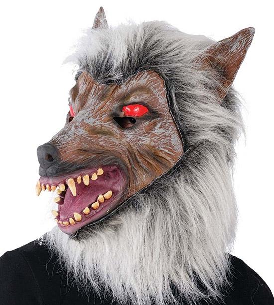 Masky - Maska  latexová - šedý vlk