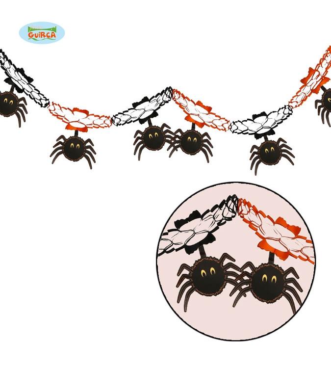 Doplňky - Girlanda s pavouky 15 x 200 cm