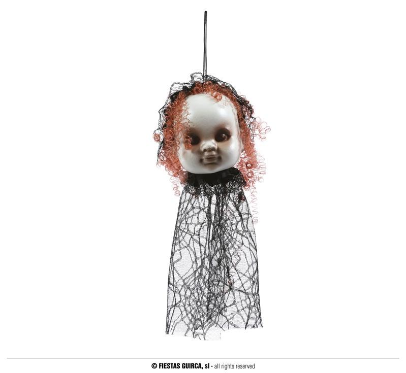 Doplňky - Závěsná hlava panenky