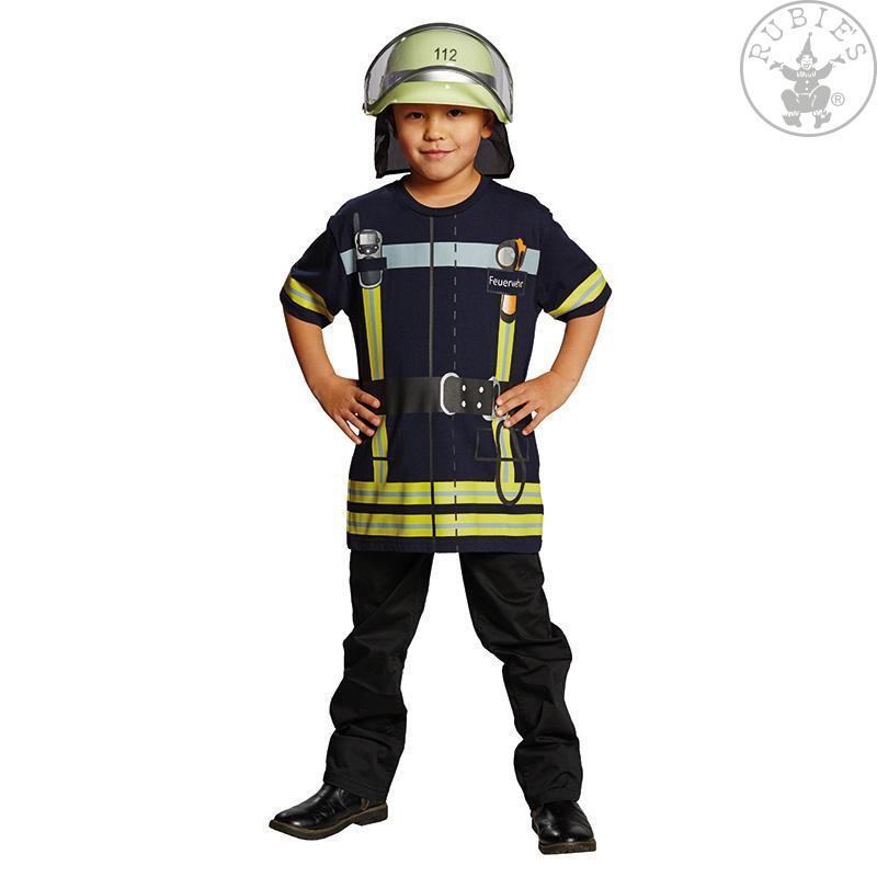 Kostýmy - Tričko hasič  tm. modré