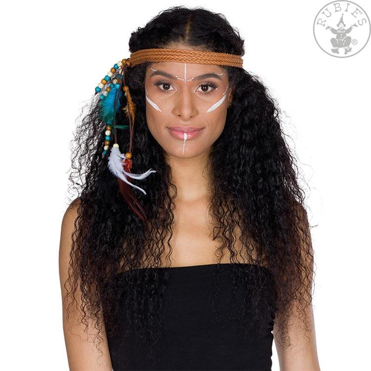Doplňky dle zaměření - Indiánská čelenka pletená