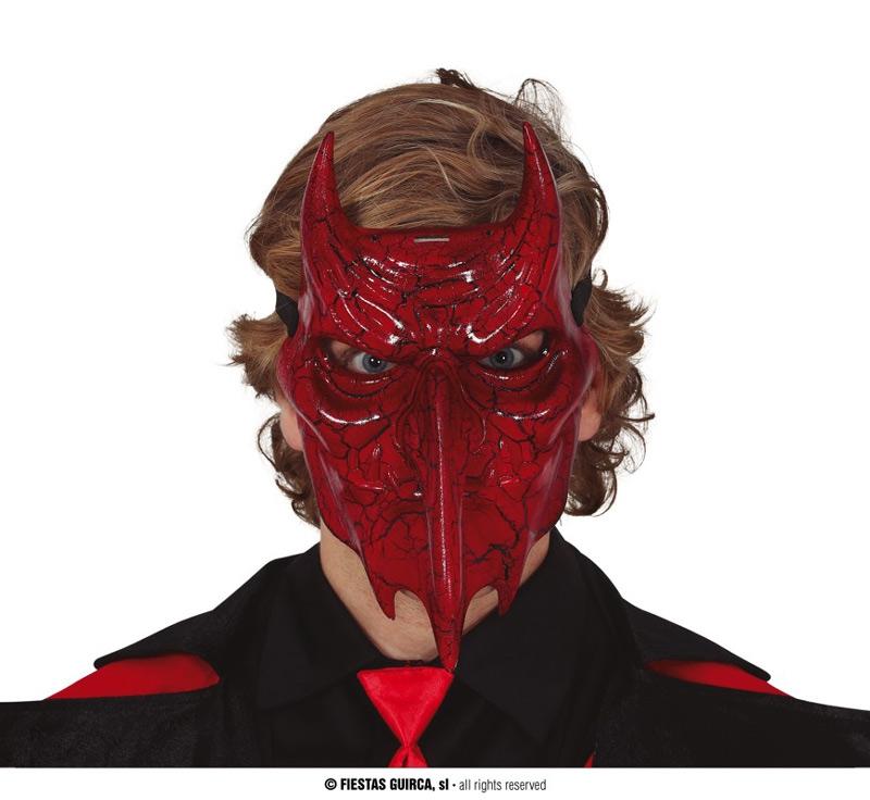 Masky - Ďábelská maska s rohy
