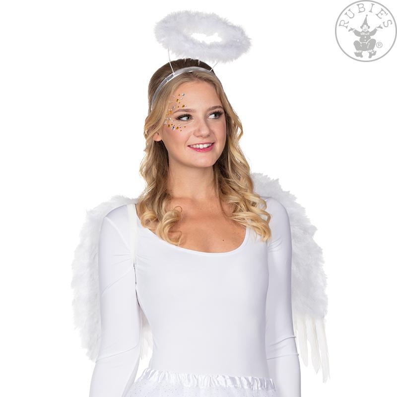 Doplňky dle zaměření - Křídla anděl péřová se svatozáří 53 x 60 cm