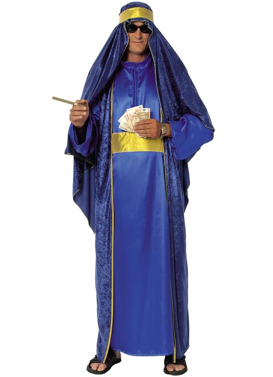 Kostýmy - ARAB - modrozlatý kostým