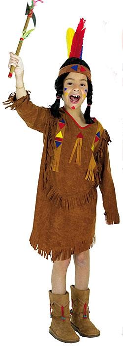 Kostýmy na karneval - Indiánka - kostým D