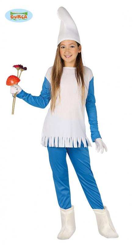 Kostýmy - Modrý skřítek - dívčí kostým