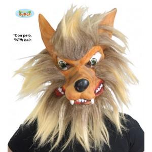 Maska vlka s vlasy