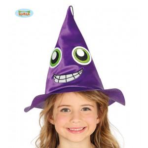 Dětský čarodějnický klobouk fialový