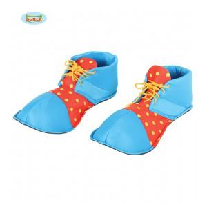 Klaunské boty červeno-modré