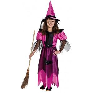 Půlnoční čarodějka růžová s kloboukem